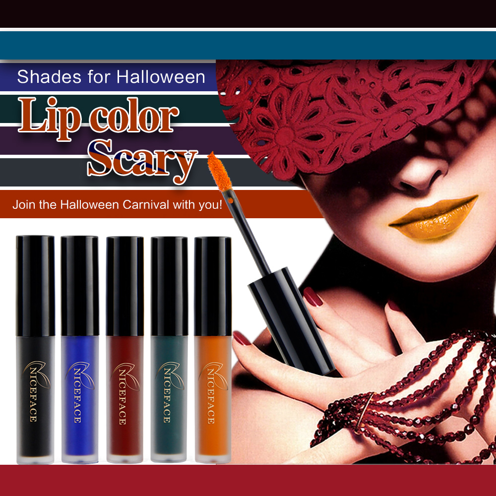 Liquid lipstick Matte Lip tint lip Gloss Plumper Waterproof long lasting lipstick Rouge Tattoo Halloween Sexy lips Makeup