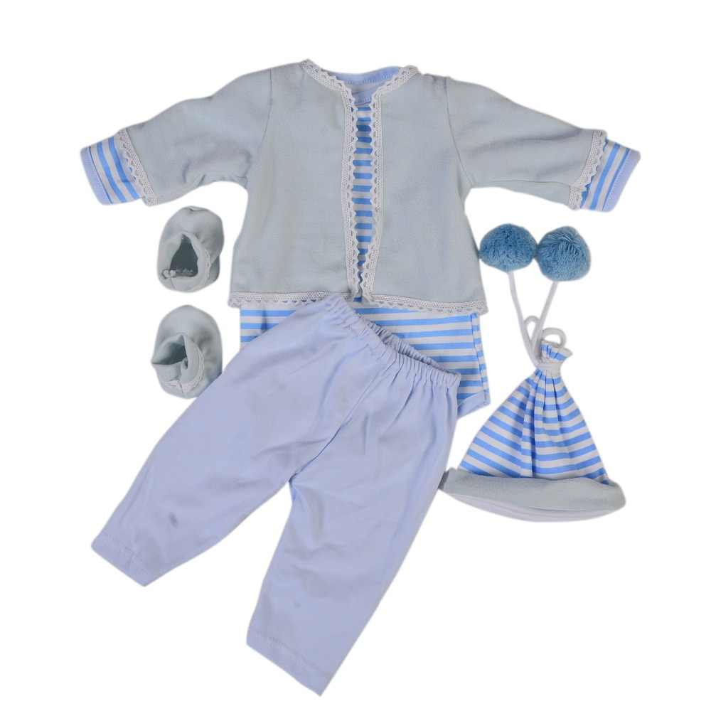 f0e8ffebb25f KEIUMI 22-23 Inch Reborn Baby Doll Clothes For boy Wholesale Blue Baby  Clothes bebe
