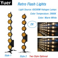 6X300W Retro Flash Lights Stage Dj Wash Effect Lights DMX Strobe Lights Professional Lighting Shows Equipments Laser Projector