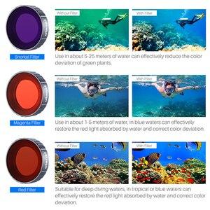Image 2 - Ulanzi Tauchen Filter Kit für Dji Osmo Action Optische Glas Rot Lila Dive Swim Osmo Action Kamera Objektiv Filter Zubehör