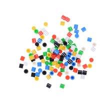 20 шт./лот случайный цвет крышки тактильных кнопок пластиковая крышка шляпа для 6*6 тактильная кнопка переключатель крышка