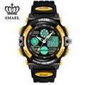 Smael watcheskids marca niños de la manera reloj analógico digital dual time display relojes niños regalos reloj de la historieta ws0508a