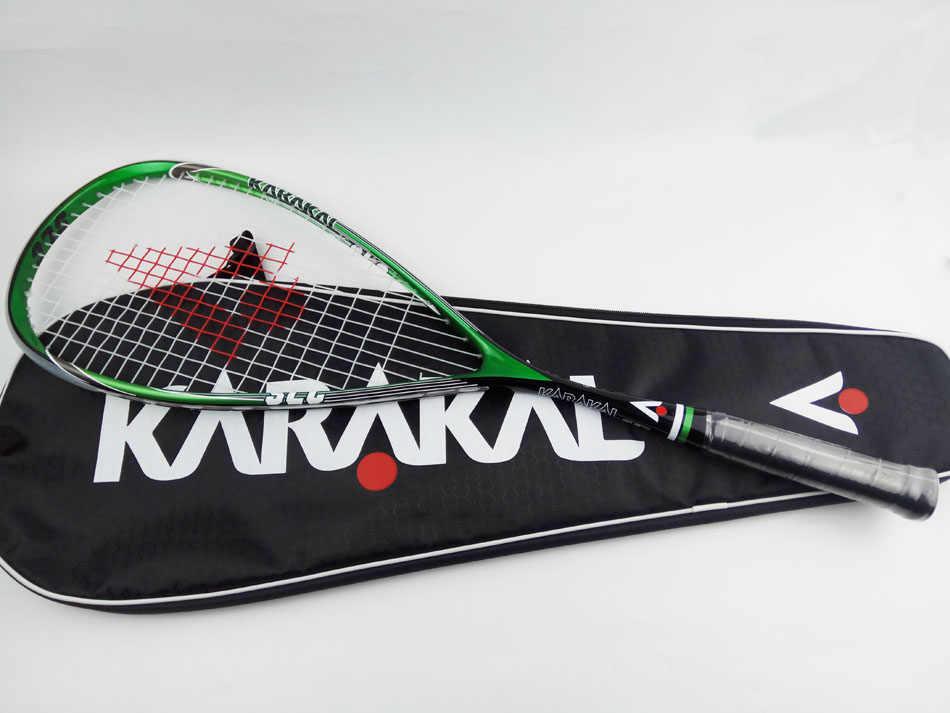 130G Official Karakal Carbon Squash Rackets Green Yellow Squash Racquets With Grip Bag Racquet Sports Graphite Squash Racket SLC