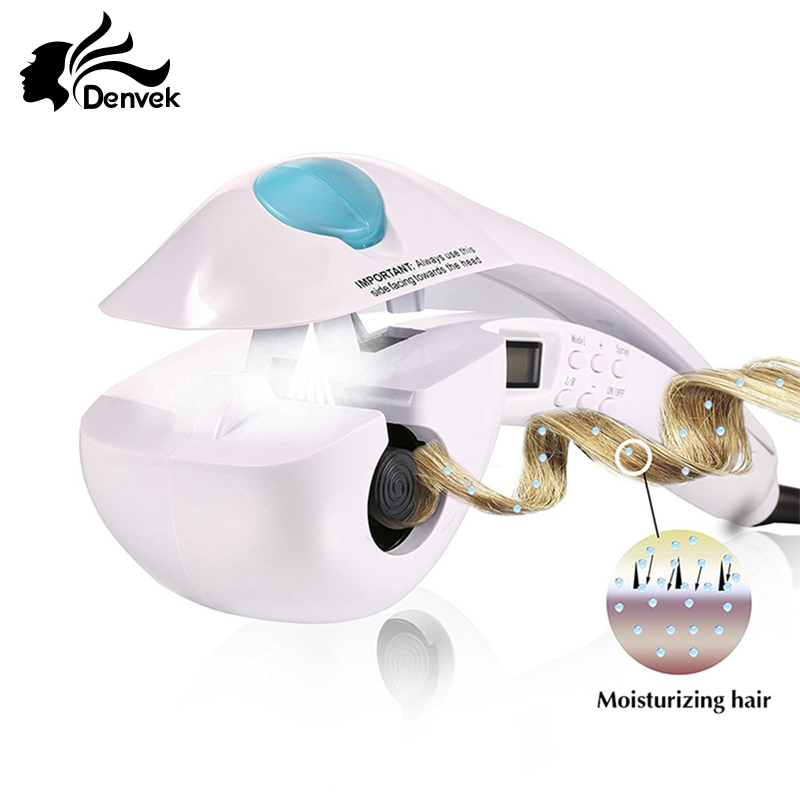 PTC Heating LCD Display Hair Curler Styler Barber Hair Styling Tools Automatic Heating Curling Iron Rollers Magic Hair Curlers