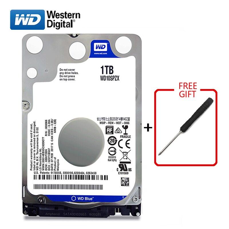 "WD Blue Brand 1000Gb 2.5"" SATA3 Internal Hard Drive 1TB Hard Drive HD Hard Drive 6GB/s 128M 7MM 5400RPM hard disk for Laptop-in Internal Hard Drives from Computer & Office    1"