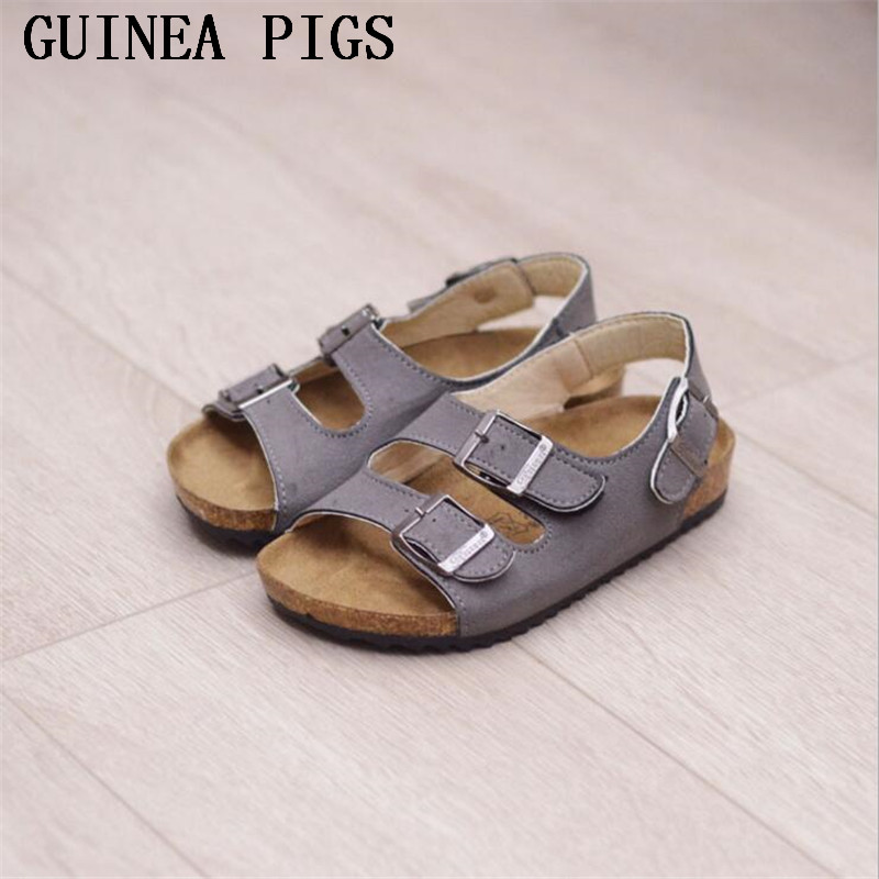 GUINEA PIGS Brand Summer Autumn Boys Girls Fashion PU Non-Slip Children's Sandals Upscale Boys And Girls Slippers Five Colors