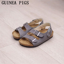 GUINEA PIGS Brand Summer Autumn Boys Girls Fashion PU Non-Slip Childrens Sandals Upscale And Slippers Five Colors