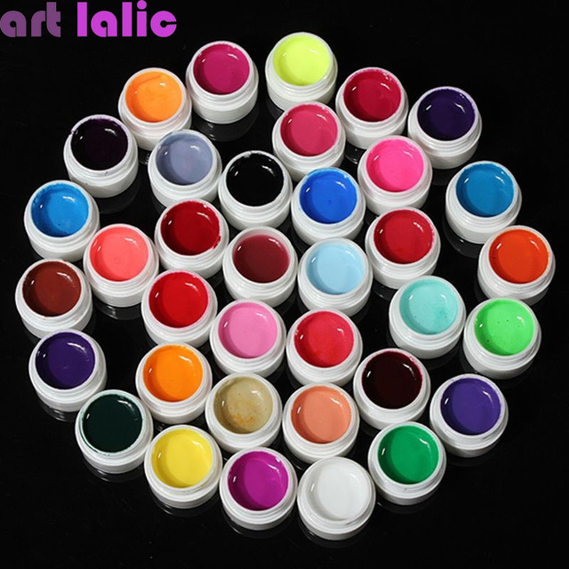 36 Colors UV Gel Builder Set Pure Color Decor For Nail Art Tips Extension Manicure DIY Tools Decorations