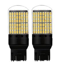 2 adet T20 7443 W21/5W 2000Lm süper parlak LED CANBUS araba fren ampul otomatik dönüş sinyal lambası gündüz koşu işık beyaz kırmızı sarı