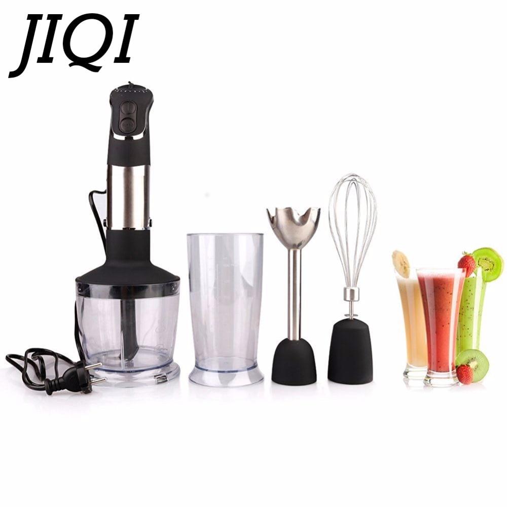 JIQI electric Handheld Food Mixers Multifunction Portable Fruits Blender juicer stir mixing whip Eggs beater Processor 110V 220V wavelets processor