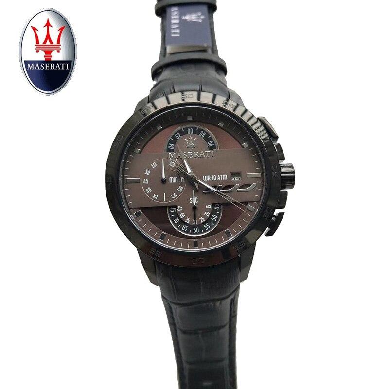 Luxury brand Maserati sports watch men's reloj hombre all stainless steel quartz watch clock men's watch yongnuo yn560iii 2 4g gn58 professional flash flashlight photoflash lamp strobe light stroboscope signal lamp flicker