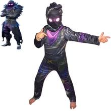 Купить с кэшбэком Cosplay Costume Kids Children Mask Sets Skull Trooper Costume Halloween Christmas Fancy Ninja Superhero Suits Boy's Fancy Dress