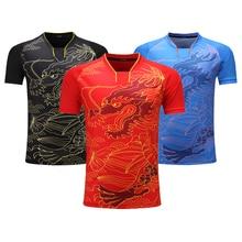 Camisa de tênis de mesa unissex, camisa para pingue pongue e tênis de mesa camiseta de treinamento de uniforme ding n
