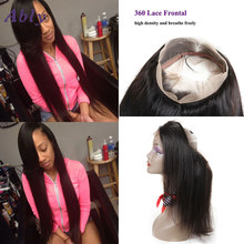 Ably Plucked 360 Lace Frontal Closure 360 lace virgin hair Straight 7a Frontal With Baby Hair 360 Frontal Brazilian Virgin Hair
