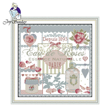 Joy Sunday,Roses,Chinese cross stitch embroidery,printing cloth embroidery kit,Printed stitch,Flower picture