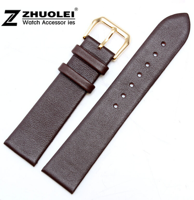 12mm 14mm 16mm  18mm 20mm 22mm New Women Mens High Quality Brown Smooth Genuine Leather Watch Bands Straps Free Shipping 18mm 19mm 20mm 21mm 22mm available new high quality black or brown genuine leather watch bands straps free shipping