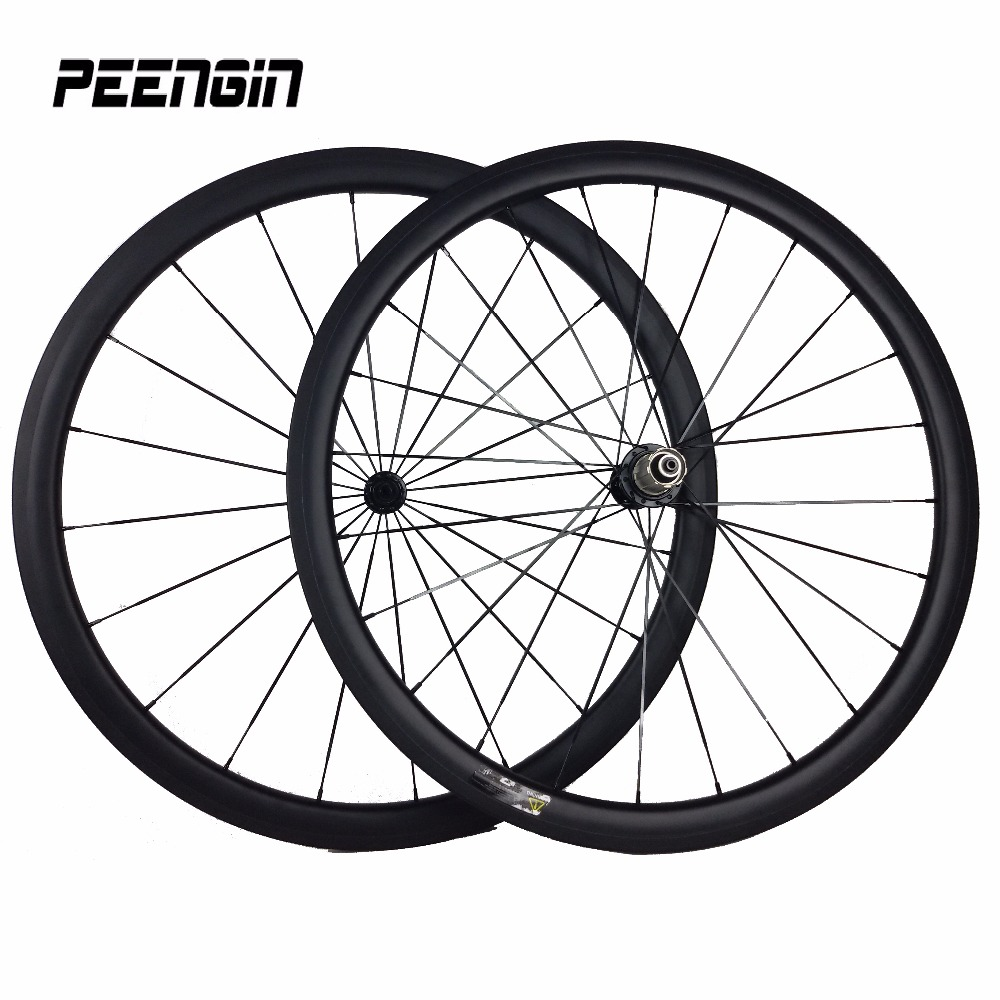 купить 38 mm carbon wheelset  clincher hollow wheel aero 23mm 3K UD weave offer brand bicycle rim sticker carbon fiber bike wheels 700c недорого