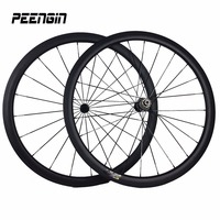 700C Carbon Bike Wheels Roues Carbone Clincher 38mm Deep 23mm Wide Cycling Wheels 3K UD Weave