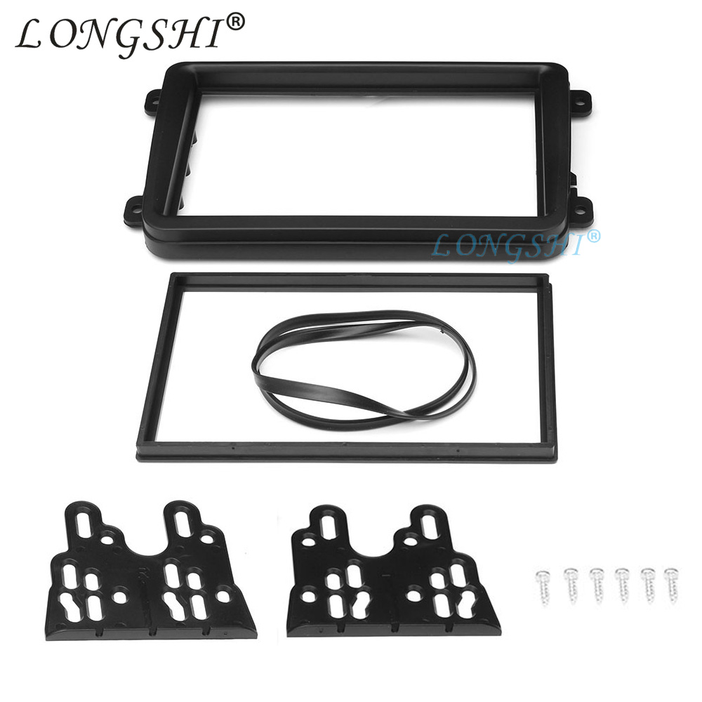 Image 4 - Car Double Din Frame radio Fascia Panel DVD Dash Interior Trim for Volkswagen for VW Touran Caddy SEAT for Skoda Fabia Octavia 2-in Fascias from Automobiles & Motorcycles