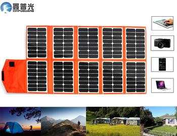 Xinpuguang 150W 16V Foldable Solar Panel Flexible Portable Charger System USB DC Output for 12V Battery Phone Pad Camping Bag