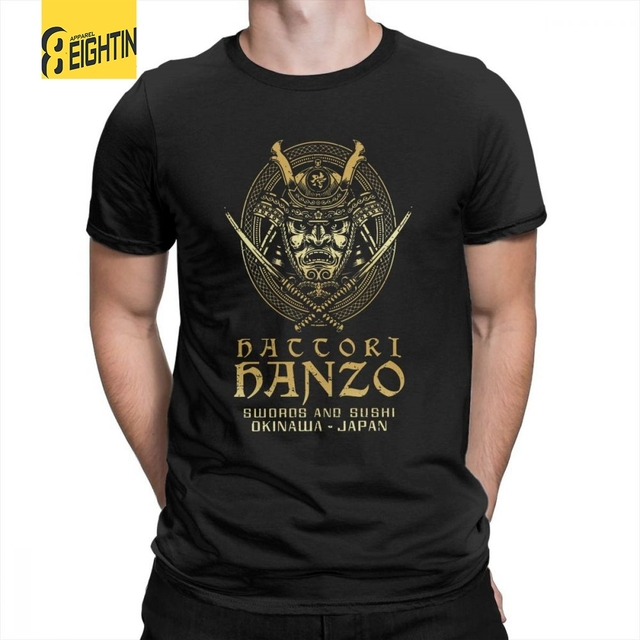 7d1f78a2 Hattori Hanzo Swords And Sushi T Shirt Tops Awesome Tees Short Sleeve  Popular Crewneck 100% Cotton Men Fashion T-Shirt Plus Size