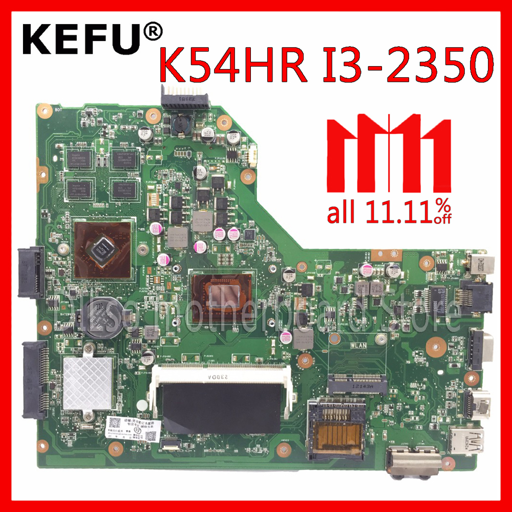 KEFU K54HR motherboard For ASUS A54LY X54LY X54HY K54HR A54HR K54LY laptop motherboard original Test mainboard I3 CPU in stock