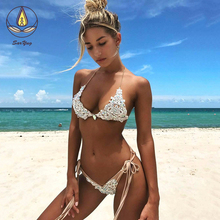 Lace Bikini Diamond Swimsuit Crystal Women Swimwear Nude Bikinis Brazilian Rhinestone Beachwear Push Up Bikini 2019 Lace Biquini