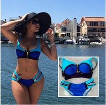 print bikinis set push up bikini retro swimwear big cup biquini vintage bandage bikini triangle swimwear