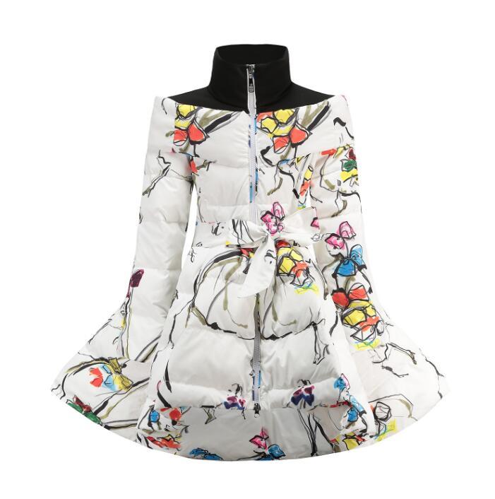 Winter Girls Coats 95% Down Jackets Children's Clothing For Snow Wear Kids Outerwear Long Down Coats Snow Clothes Girls Clothing girls clothing down