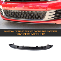 Car Front Bumper Lip Spoiler For Volkswagen VW Golf 6 MK6 GTI 2010 2011 2012 2013 Black FRP Carbon Fiber Car Spoiler Lip