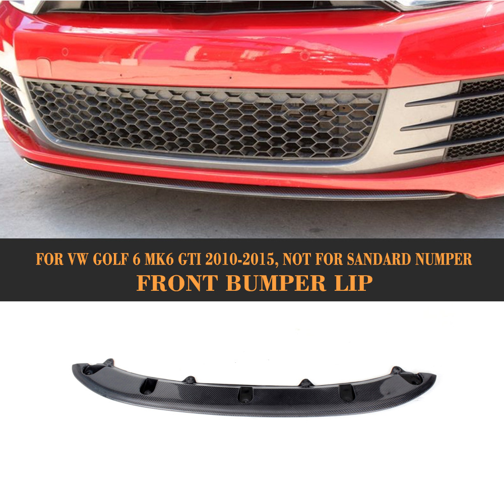 Front Bumper Lip Spoiler For Volkswagen VW Golf 6 MK6 GTI 2010 2011 2012 2013 Black FRP Carbon Fiber Car Spoiler DiffuserFront Bumper Lip Spoiler For Volkswagen VW Golf 6 MK6 GTI 2010 2011 2012 2013 Black FRP Carbon Fiber Car Spoiler Diffuser