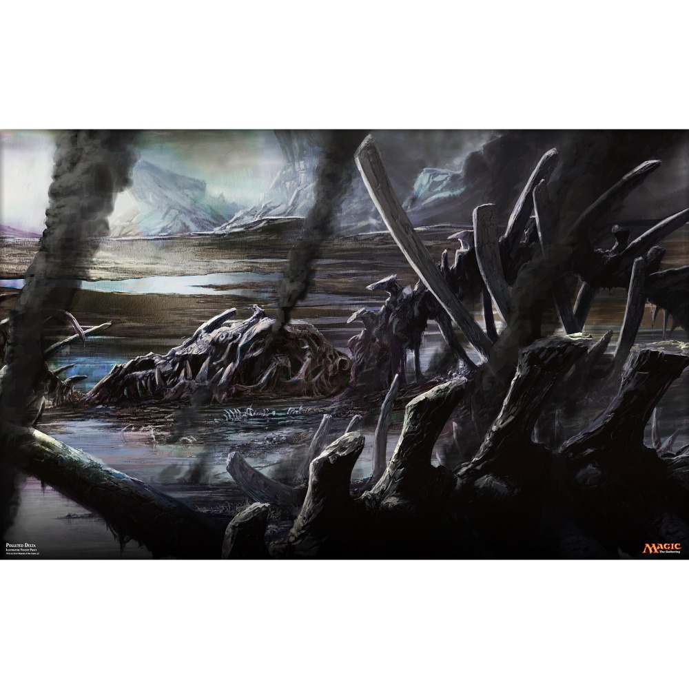 Limited Edition High Quality Full Art Polluted Delta MGT Board Games Cards Playmat 2MM Thickness
