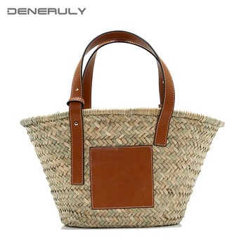 Beach Rattan Bag Women New Elegant Straw Bag Bolsos Mujer De Marca Famosa 2019 Bolso Paja Bolso Playa Designe Luxury Handbags 1