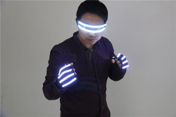 LED Stage Costumes LED Gloves, Luminous LED Glasses , Laser Stage Props Party Supplies