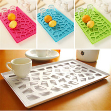 1 pcs candy color vanzlife kitchen drain and cherry plastic compartment tray shelf storage rack Drain fruit plate
