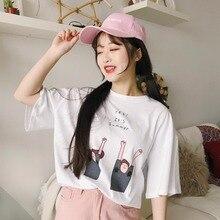 summer tops for women 2018 befree tshirt t-shirt female shirt tee femme top womens T-shirt korean clothes