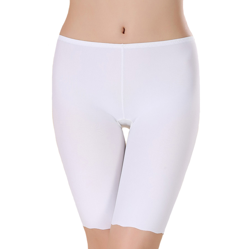 Women Ice Silk  Safety Pants Seamless Boy Shorts Boxer Female Modal Briefs Panties Ice Silk Safety Short Pants Underwear