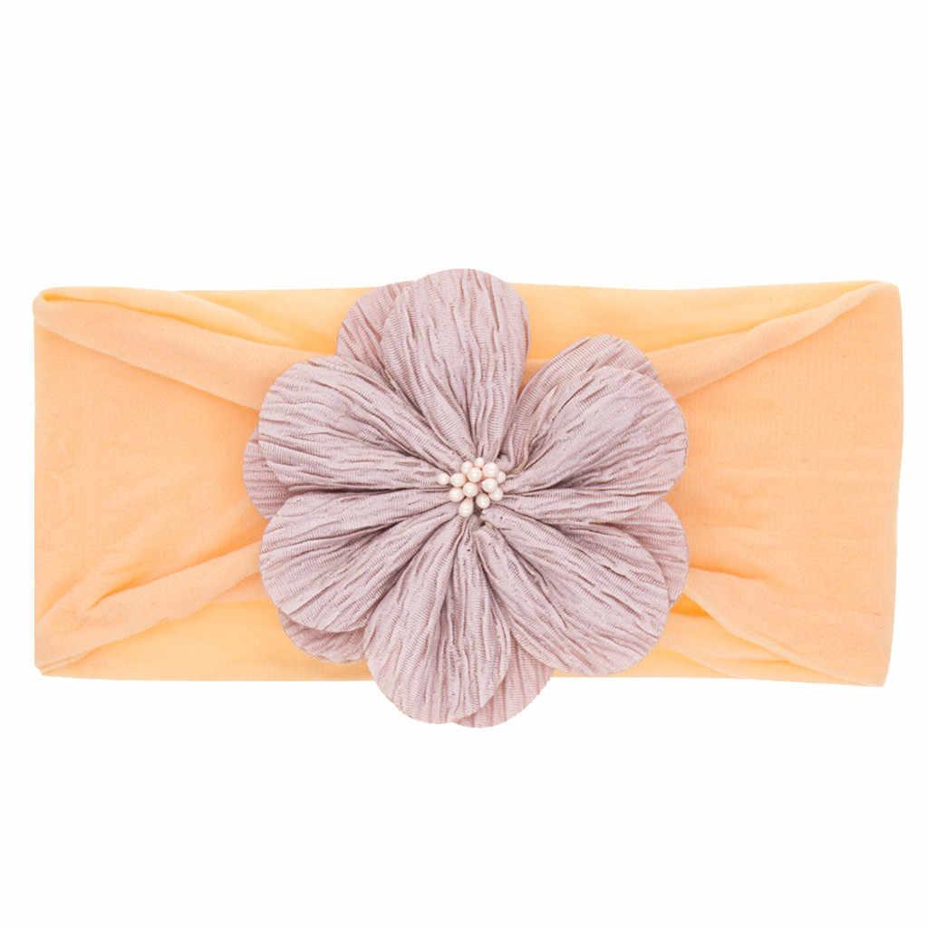 Новорожденный Младенец Малыш платья в цветочек для маленьких девочек шапка-тюрбан, головной убор, милые аксессуары для волос подходит для От 0 до 3 лет, для девочек