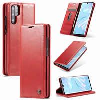 Classique huile cire portefeuille en cuir synthétique polyuréthane pour Huawei P20lite P20Por mate20 P30Poe pour iPhone 6S 7 8Plus XS XR XSMAX 11P MAX mobile pho