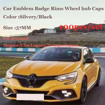 Free shipping 100pcs 57mm Car logo badge emblem wheel center Rims Caps For Renault Megane/Clio/Laguna/Twingo/Espace Covers ABS