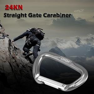 Image 5 - Карабин Lixada 24KN для прямых ворот, карабин без блокировки для скалолазания, гамаки для походов, карабин для носа, набор для путешествий на открытом воздухе