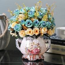 Klonca Luxury Retro Silk Flower 32cm 5pcs/lot Artificial Fake Rose for Home Wedding Decoration