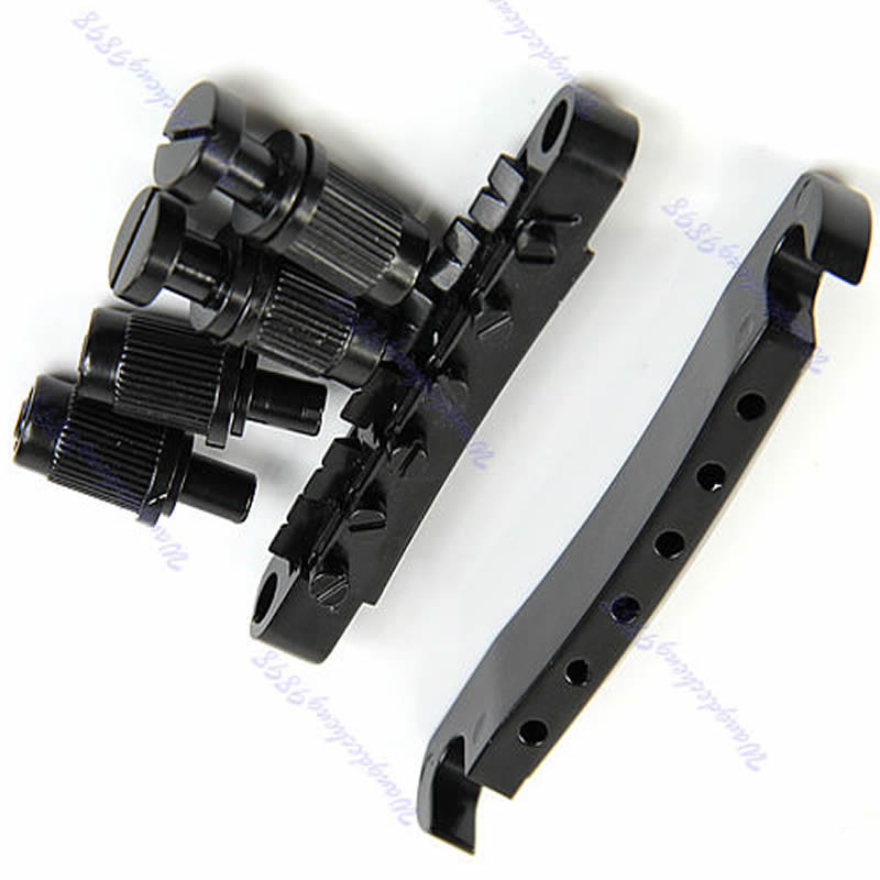 Guitar Parts Tune-O-matic Bridge Tailpiece Tail For LP Style Set Black kaish lp tune o matic roller saddle bridge tailpiece stopbar set for lp gold