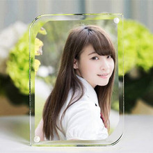 1 SET Acrylic Arc Magnet Photo Frame Modern Simple Fashion High Transparent Acryl Picture