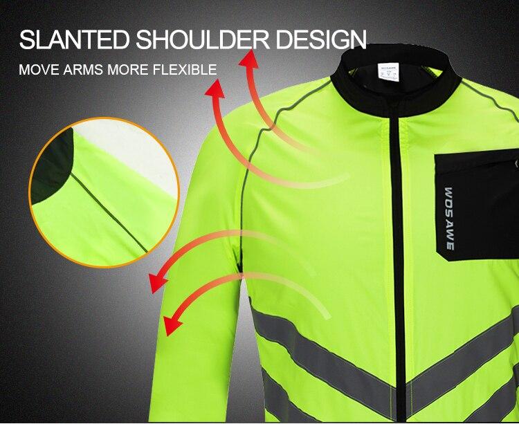 Ciclismo jaqueta reflexiva ciclismo roupas dos homens