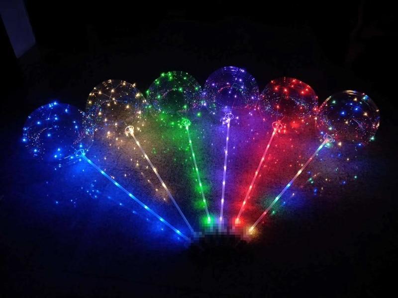 10pcs Led Balloon Transparent globos cumpleanos infantiles Wedding Birthday Party Decorations Kids Adult BOBO orbs Air Balloons 2