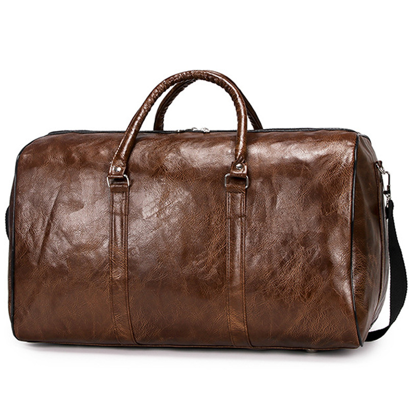 New Arrival Leather Travel Bags Luxury Men Large Capacity Portable Male Shoulder Bags Men's Handbags Vintage Travel Duffle Hot