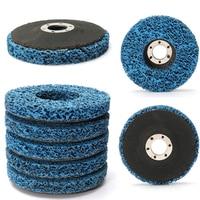 5 unids Azul 110mm Rueda de Pulido Óxido Pintura Eliminación Limpia Discos Amoladora Angular Para Herramientas Abrasivas