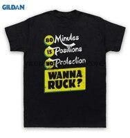 GILDAN 100 Cotton O Neck Printed T Shirt 80 Minutes 15 Positions No Wanna Ruck T