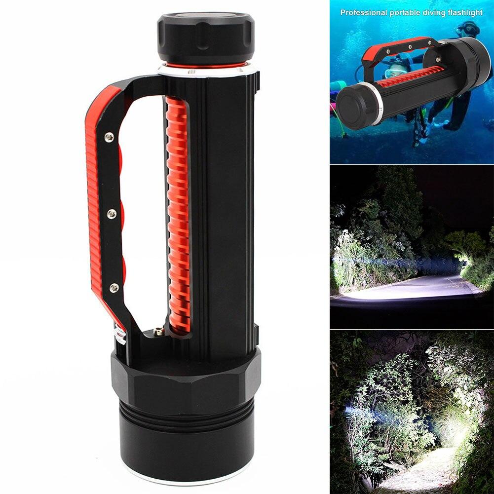 1 pièces LED lampe de poche de plongée torche Portable lampe étanche haute puissance sous-marine LB88